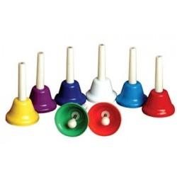 Juego de 8 campanas de plástico con mango