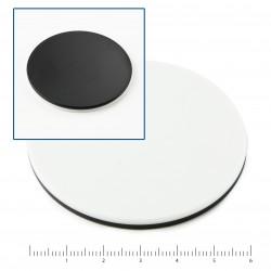PLATINA REVERSIBLE BLANCA/NEGRA Ø 60 mm.