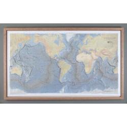 LÁMINA FONDOS OCEÁNICOS EN RELIEVE